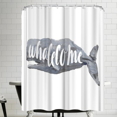 Jetty Printables Whalecome Sign Shower Curtain