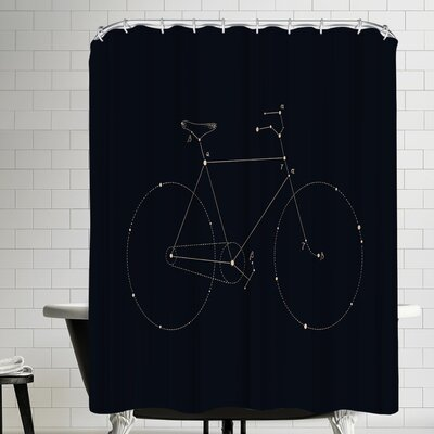 Florent Bodart Bike Constellation Shower Curtain