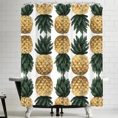 Jetty Printables Painted Pineapple Shower Curtain