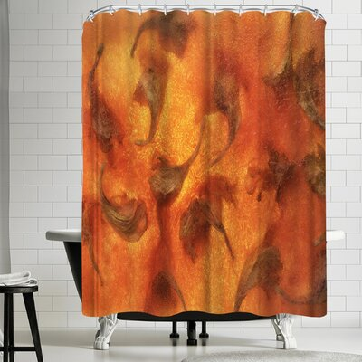Zina Zinchik Flaming Fall Shower Curtain