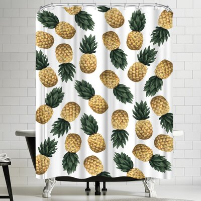 Jetty Printables Pineapple Shower Curtain