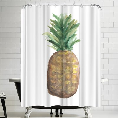 Jetty Printables Pineapple Watercolor Shower Curtain