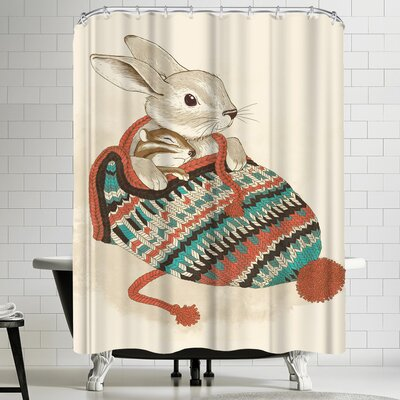 Laura Graves Cozy Chipmunk Shower Curtain