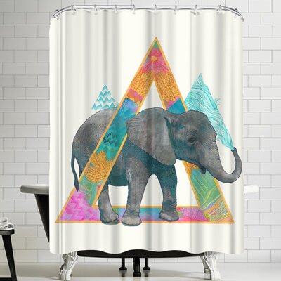 Laura Graves Elephant 1 Shower Curtain