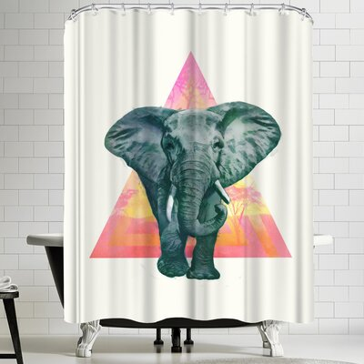 Laura Graves Elephant 2 Shower Curtain