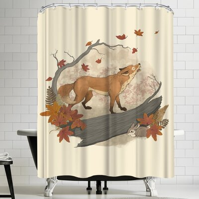 Laura Graves Fox&Rabbit Shower Curtain
