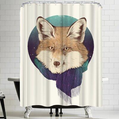 Laura Graves Fox Shower Curtain
