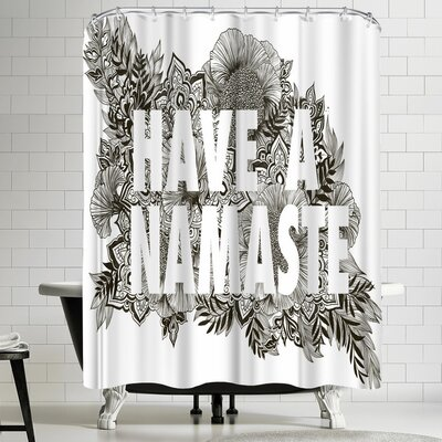 Laura Graves Have a Namaste Shower Curtain