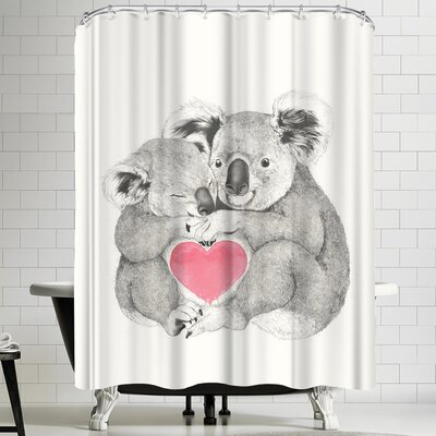 Laura Graves Koala Love Shugs Shower Curtain