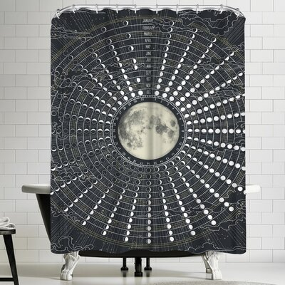 Laura Graves Phases of the Moon 2017 Shower Curtain