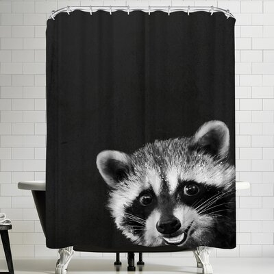Laura Graves Raccoon Shower Curtain