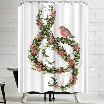 Laura Graves Robins Song Shower Curtain