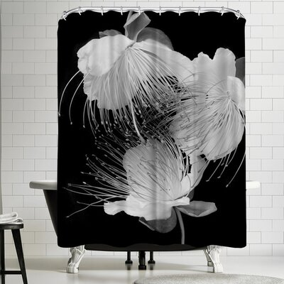 Maja Hrnjak White Flowers Shower Curtain