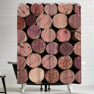 Maja Hrnjak Wine 1 Shower Curtain