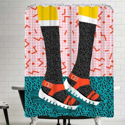 Wacka Designs Kicks Shower Curtain