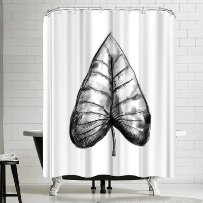 Jetty Printables Palm Leaf Illustration Shower Curtain