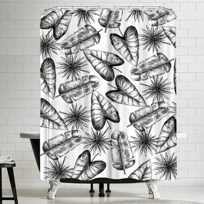 Jetty Printables Palm Leaf Shower Curtain
