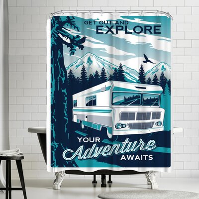 Matthew Schnepf Explore Shower Curtain