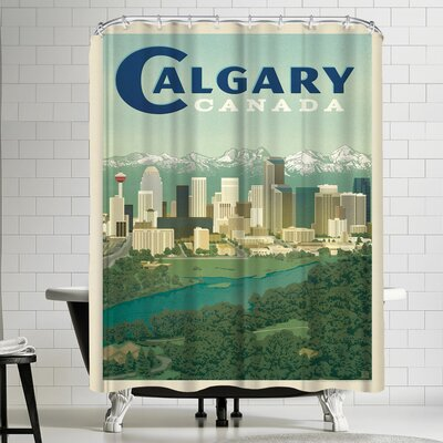 Anderson Design Group Canada Calgary Shower Curtain