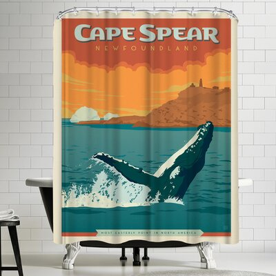 Anderson Design Group Canada Cape Spear Shower Curtain