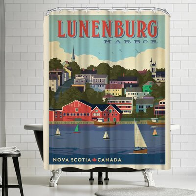 Anderson Design Group Canada Lunenburg Nova Scotia Shower Curtain
