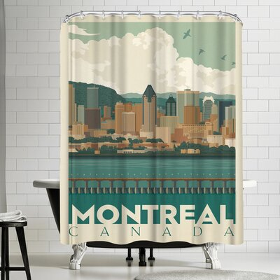Anderson Design Group Canada Montreal Skyline Shower Curtain