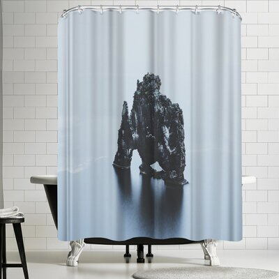 Luke Gram Hvitserkur Iceland Shower Curtain