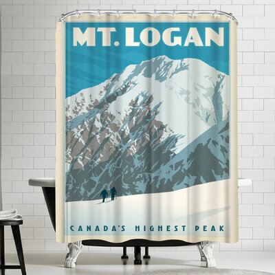 Anderson Design Group Canada Mt Logan Shower Curtain