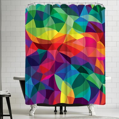 Joe Van Wetering Color Shards Shower Curtain