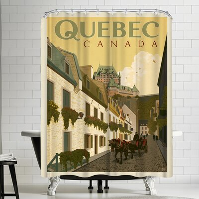 Anderson Design Group Canada Quebec Street Scene Shower Curtain