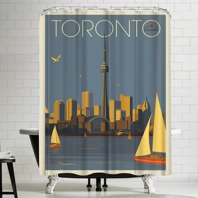 Anderson Design Group Canada Toronto Sailboats Shower Curtain