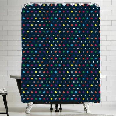 Joe Van Wetering Dots Shower Curtain