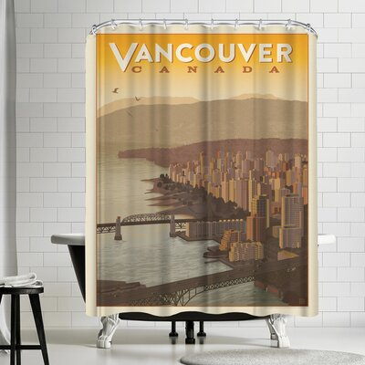 Anderson Design Group Canada Vancouver Skyline Shower Curtain