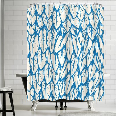 Joe Van Wetering Feathered Fringe Shower Curtain