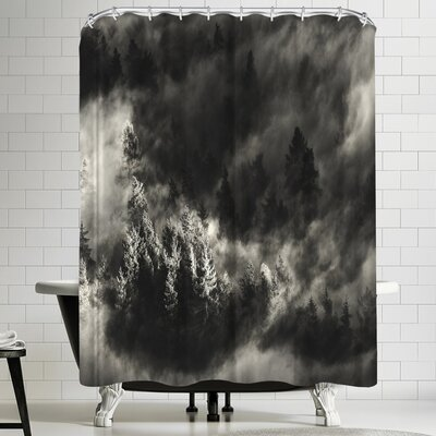 1x Pine Trees Shower Curtain