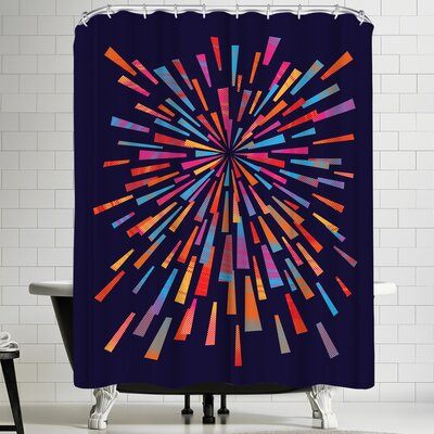Joe Van Wetering Fireworks Shower Curtain