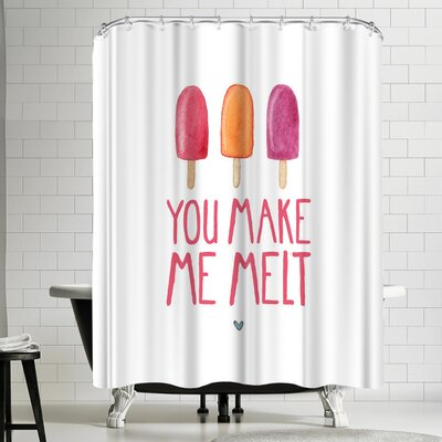 Elena Oneill You Make Me Melt Shower Curtain