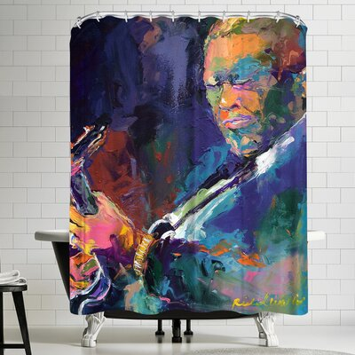 Richard Wallich BB King Shower Curtain