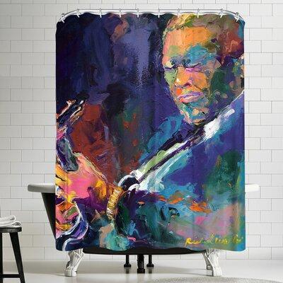 Richard Wallich BB King Shower Curtain