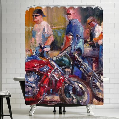 Richard Wallich Bikers Shower Curtain
