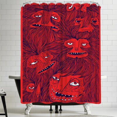 Joe Van Wetering Hairwolves Shower Curtain