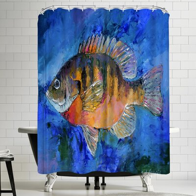 Richard Wallich Bluegill Shower Curtain