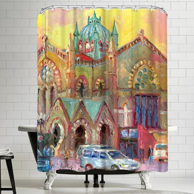 Richard Wallich Boston Church Shower Curtain