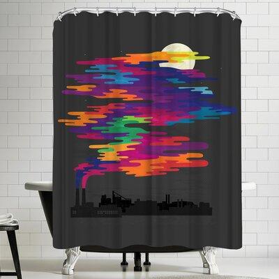 Joe Van Wetering Hidden in the Night Smog Shower Curtain