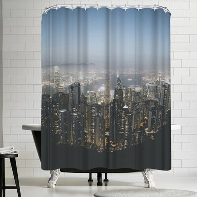 Luke Gram Victoria Peak Hong Kong Shower Curtain