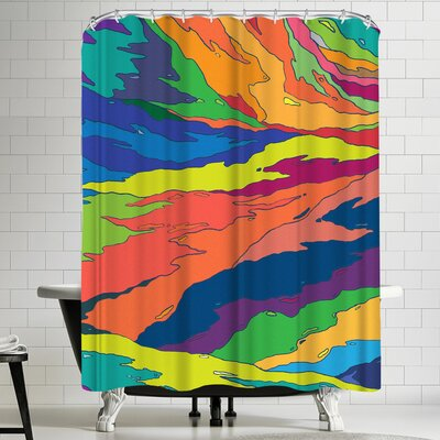 Joe Van Wetering Liquid Camo Shower Curtain