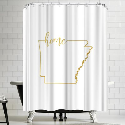 Paperfinch Arkansas Home Shower Curtain