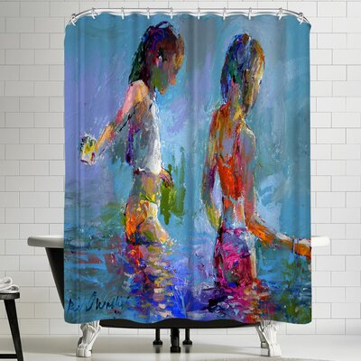 Richard Wallich Catching Minnows Shower Curtain
