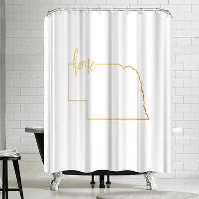 Paperfinch Nebraska Home Shower Curtain