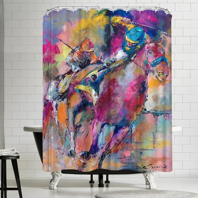 Richard Wallich Champions Shower Curtain